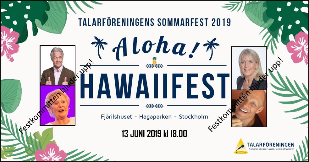 Välkommen till Talarföreningens sommarfest 2019